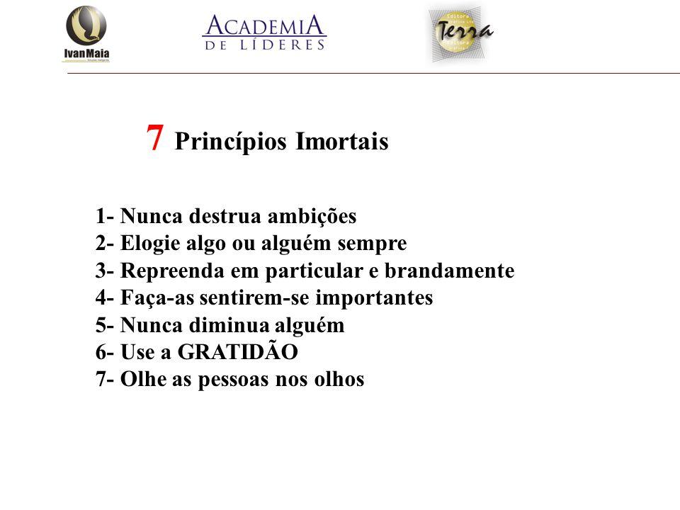 7 Princípios Imortais 1- Nunca destrua ambições