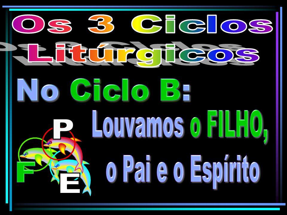 Os 3 Ciclos Litúrgicos No Ciclo B: Louvamos o FILHO, o Pai e o Espírito P F E