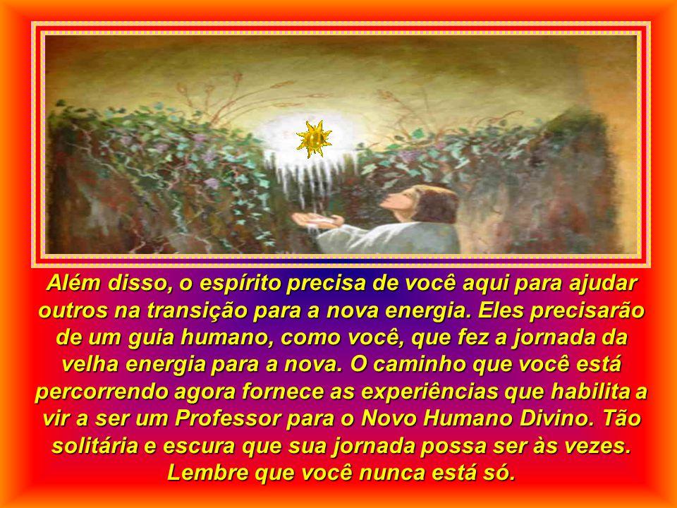 Além disso, o espírito precisa de você aqui para ajudar outros na transição para a nova energia.