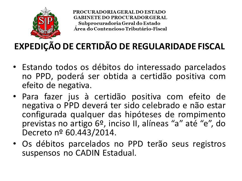 EXPEDIÇÃO DE CERTIDÃO DE REGULARIDADE FISCAL