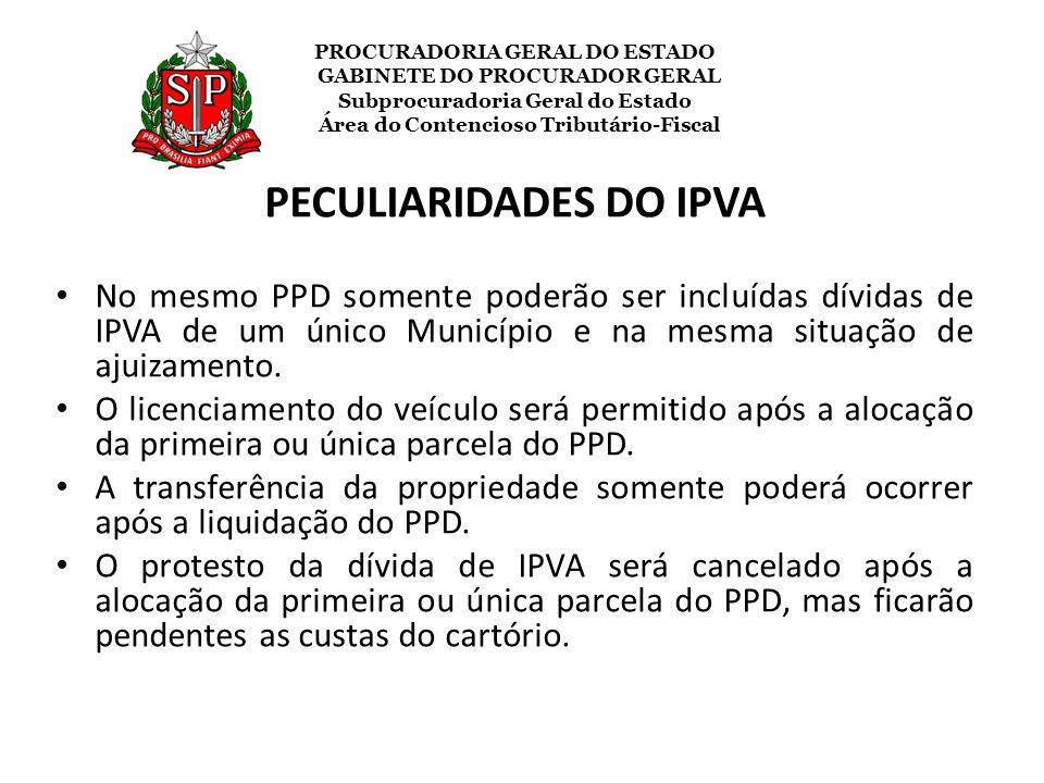 PECULIARIDADES DO IPVA