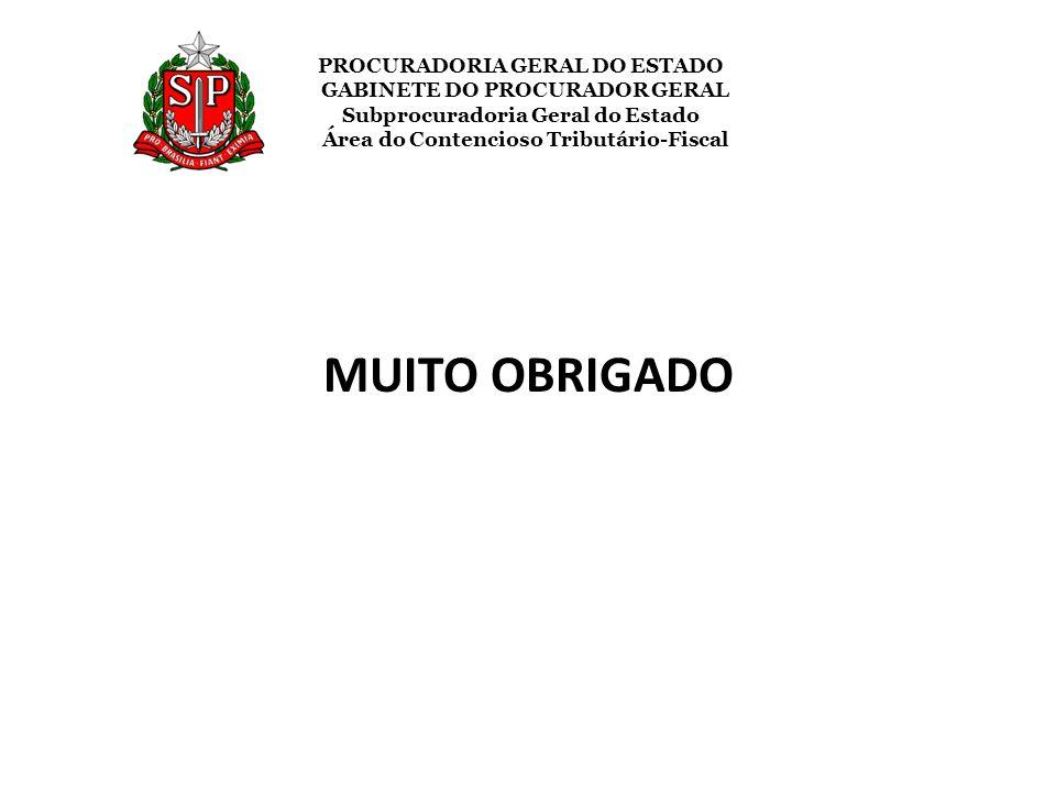 PROCURADORIA GERAL DO ESTADO GABINETE DO PROCURADOR GERAL Subprocuradoria Geral do Estado Área do Contencioso Tributário-Fiscal