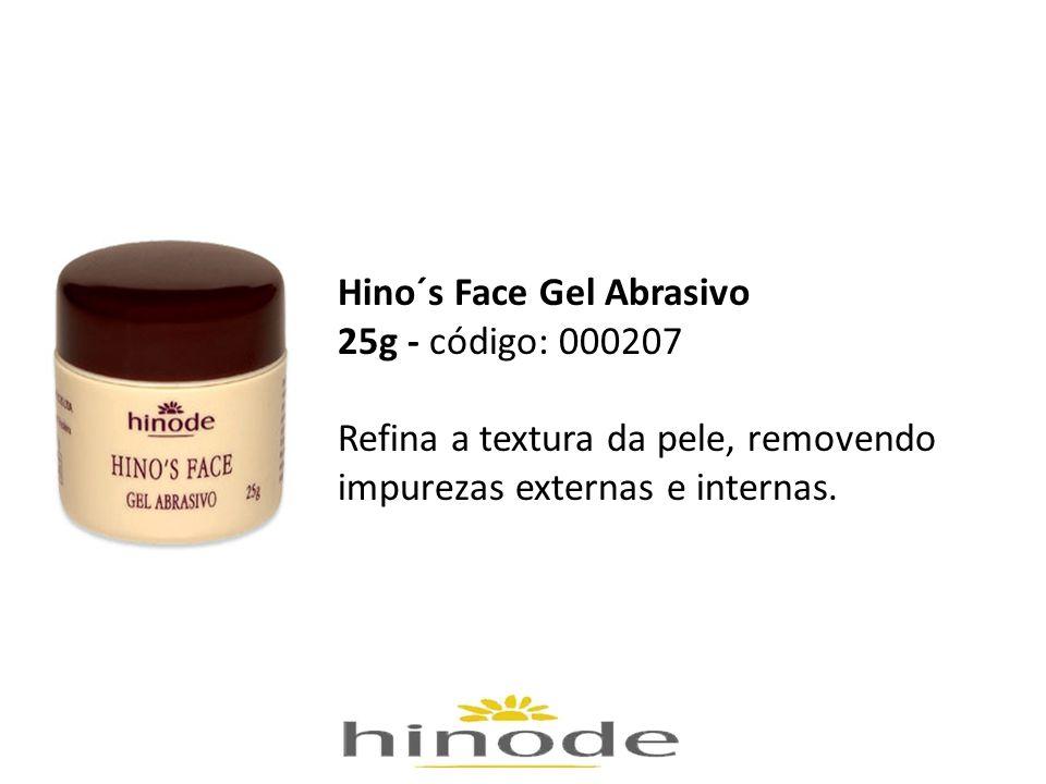 Hino´s Face Gel Abrasivo 25g - código: 000207 Refina a textura da pele, removendo impurezas externas e internas.