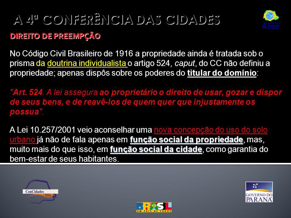 A 4ª CONFERÊNCIA DAS CIDADES
