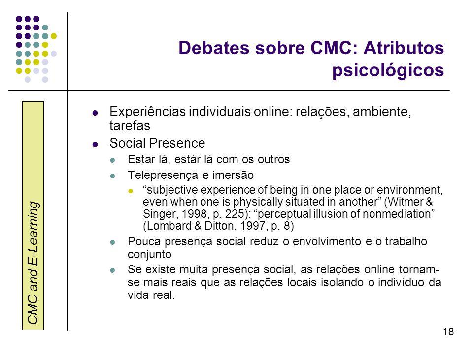 Debates sobre CMC: Atributos psicológicos