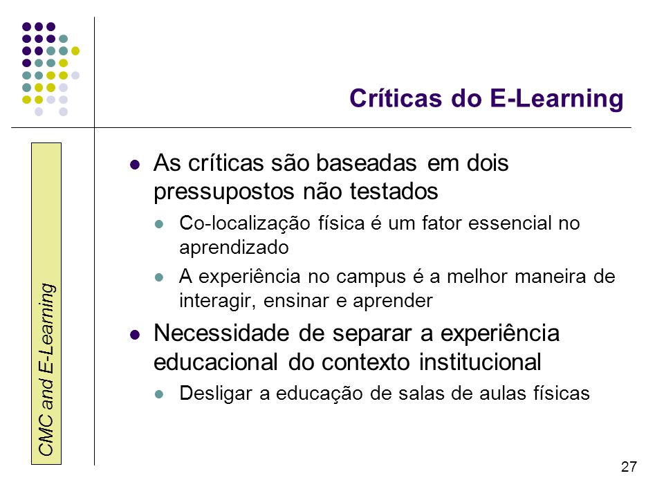 Críticas do E-Learning