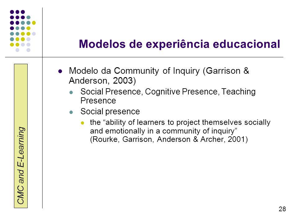 Modelos de experiência educacional