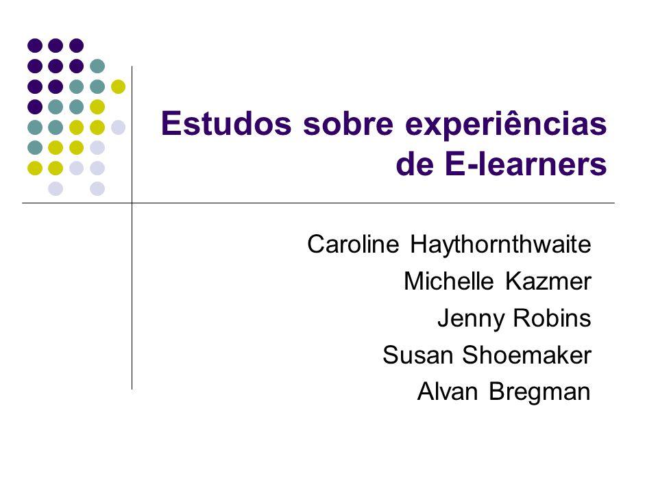 Estudos sobre experiências de E-learners