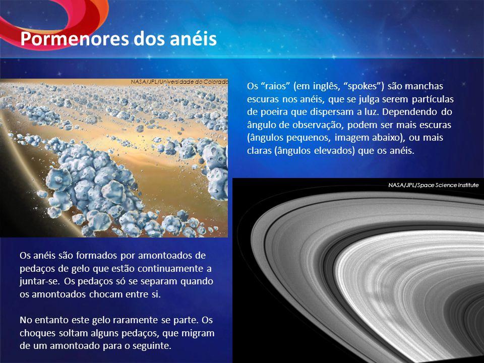 Pormenores dos anéis NASA/JPL/Universidade do Colorado.