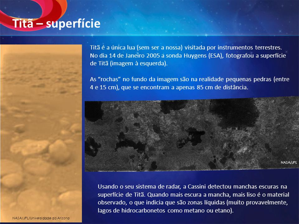 Titã – superfície
