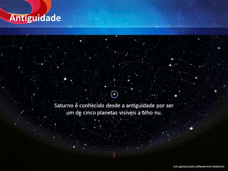 Antiguidade Saturno é conhecido desde a antiguidade por ser