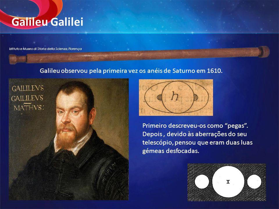 Galileu Galilei Istituto e Museo di Storia della Scienza, Florença. Galileu observou pela primeira vez os anéis de Saturno em 1610.