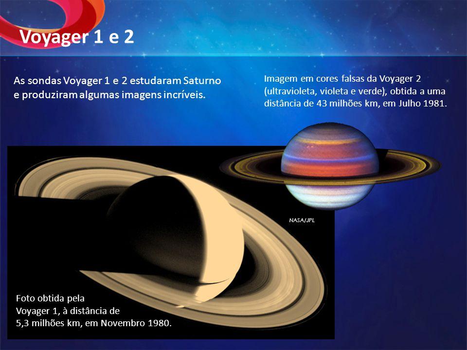 Voyager 1 e 2 As sondas Voyager 1 e 2 estudaram Saturno e produziram algumas imagens incríveis.