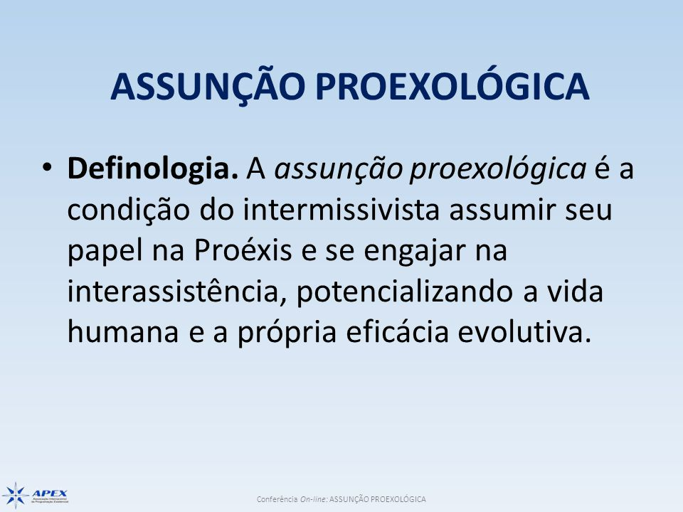 ASSUNÇÃO PROEXOLÓGICA