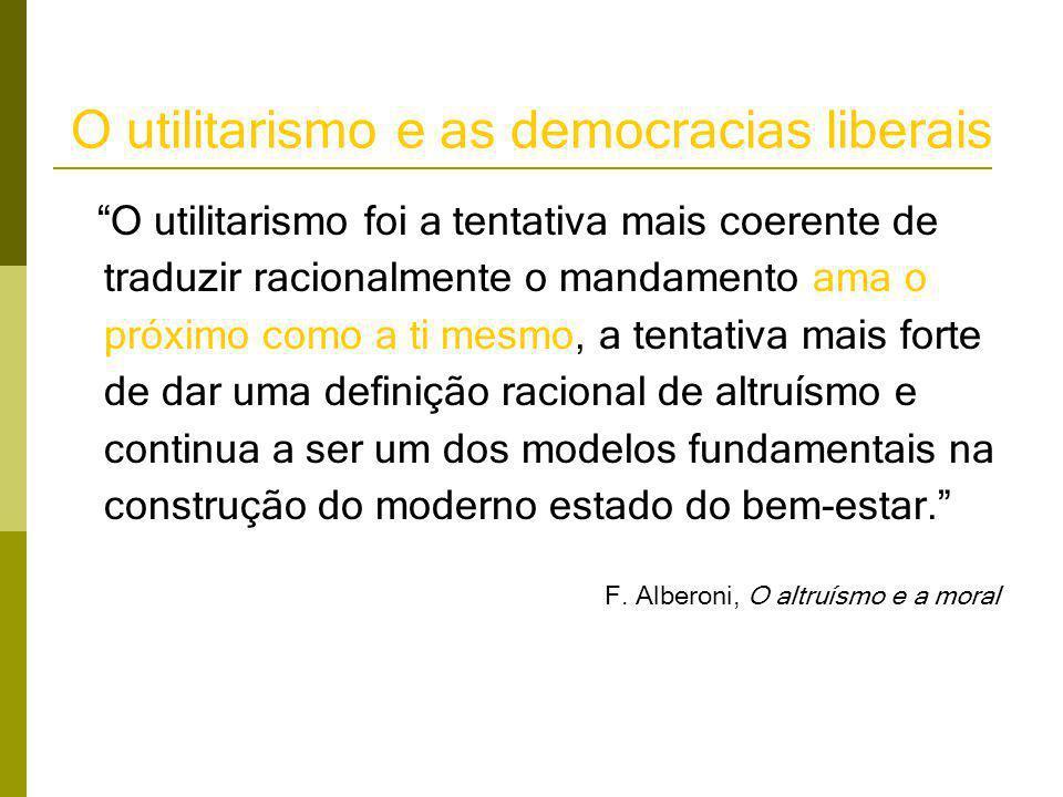 O utilitarismo e as democracias liberais