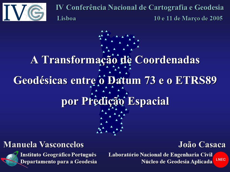 IV Conferência Nacional de Cartografia e Geodesia