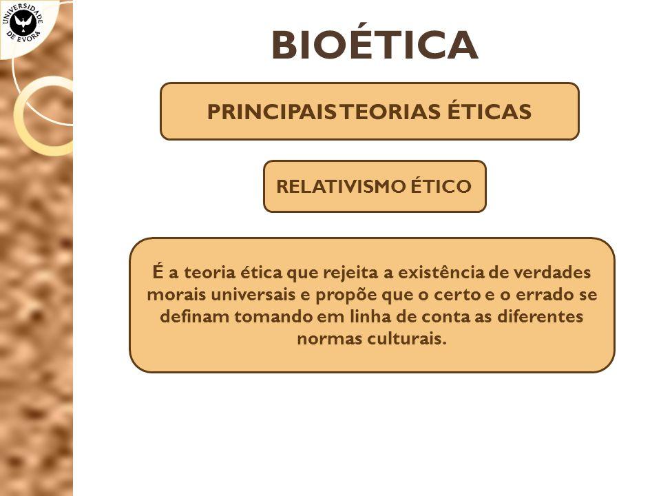 PRINCIPAIS TEORIAS ÉTICAS