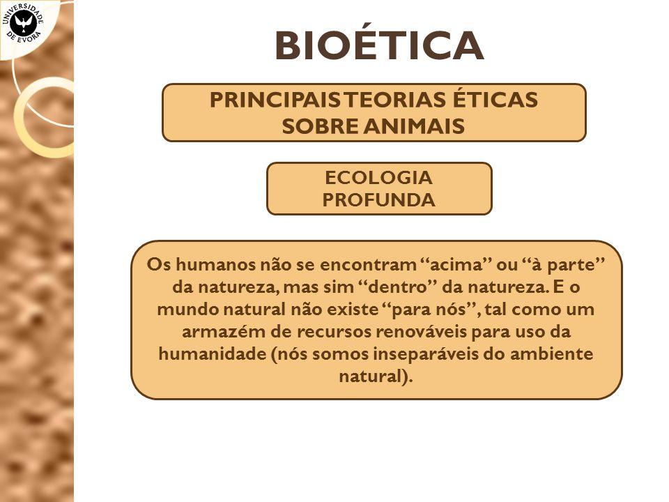 PRINCIPAIS TEORIAS ÉTICAS SOBRE ANIMAIS