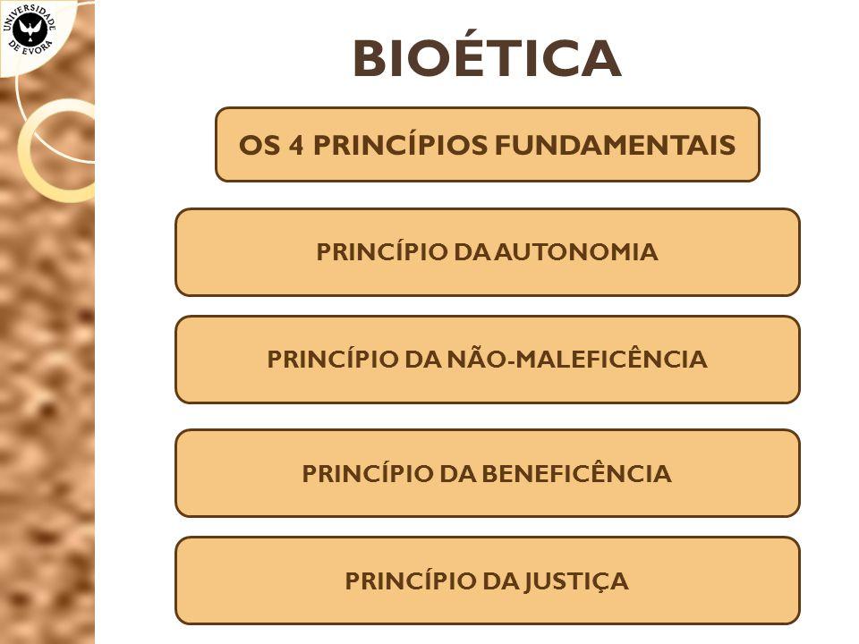 BIOÉTICA OS 4 PRINCÍPIOS FUNDAMENTAIS PRINCÍPIO DA AUTONOMIA