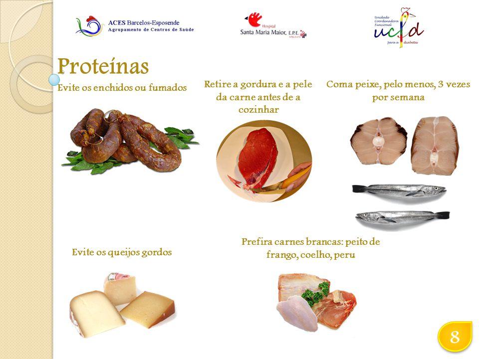 Proteínas 8 Retire a gordura e a pele da carne antes de a cozinhar