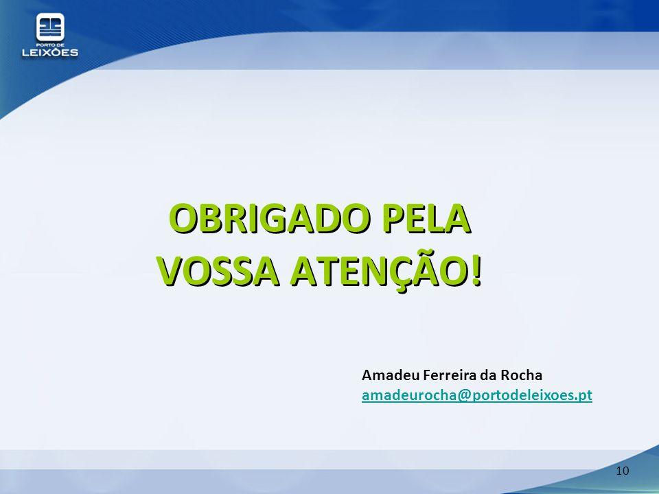OBRIGADO PELA VOSSA ATENÇÃO!