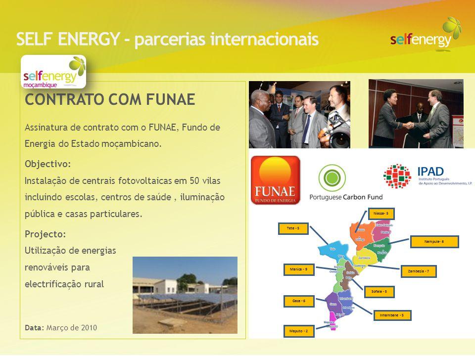 SELF ENERGY - parcerias internacionais