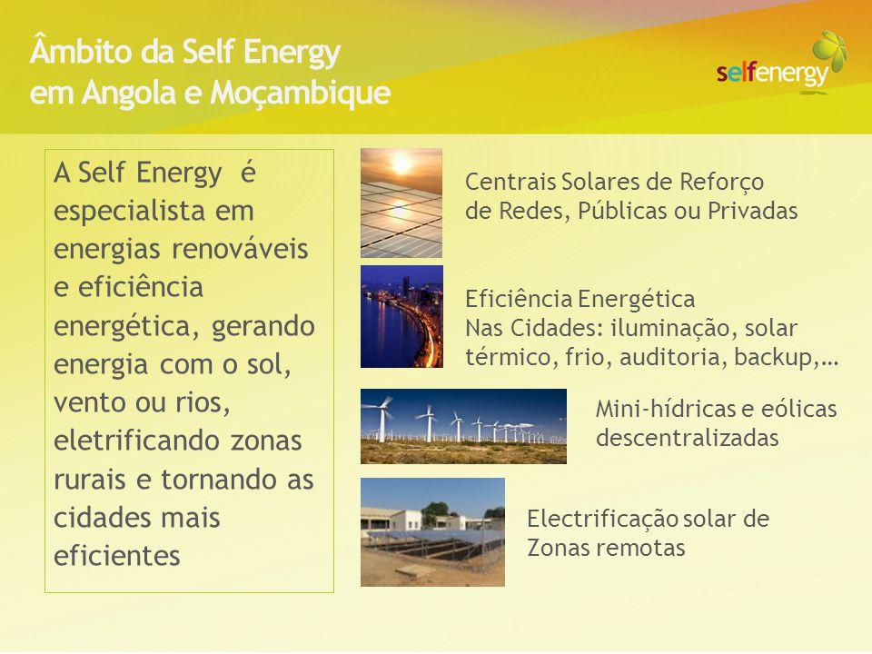 Âmbito da Self Energy em Angola e Moçambique