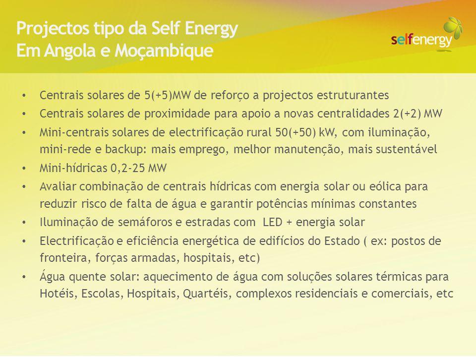 Projectos tipo da Self Energy Em Angola e Moçambique