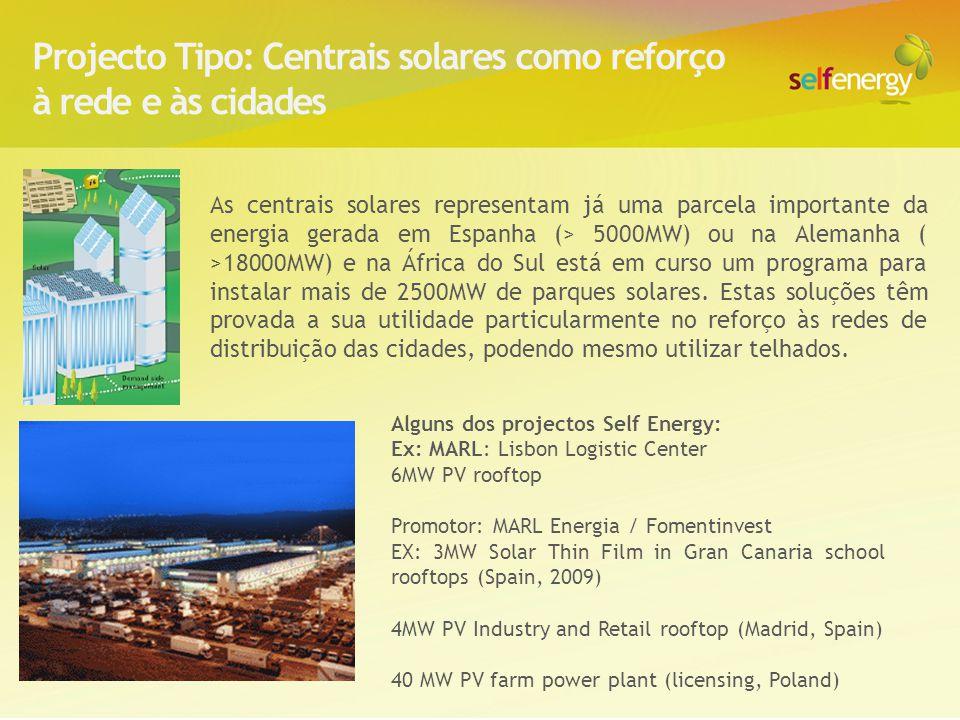 Projecto Tipo: Centrais solares como reforço à rede e às cidades
