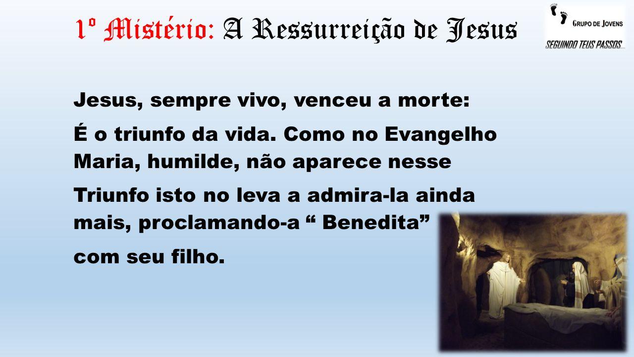 1º Mistério: A Ressurreição de Jesus