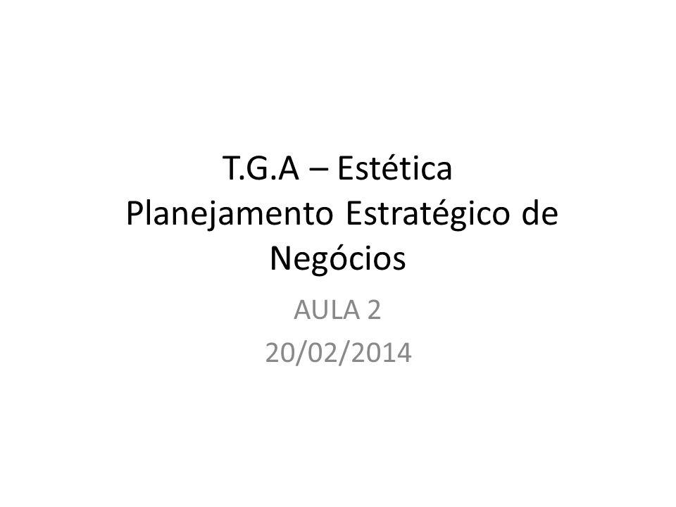 T.G.A – Estética Planejamento Estratégico de Negócios