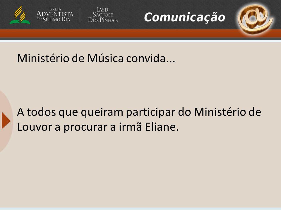 Ministério de Música convida