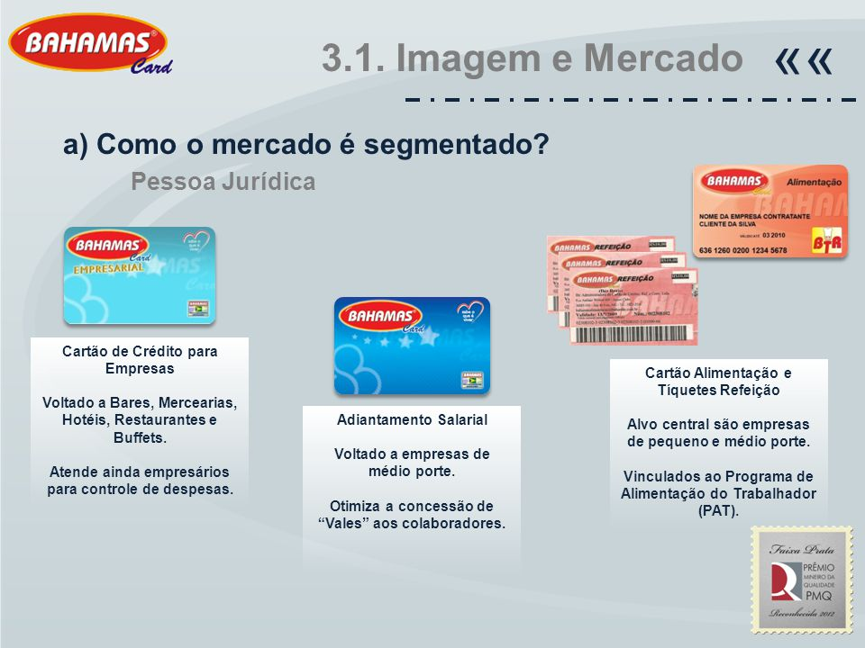 «« 3.1. Imagem e Mercado a) Como o mercado é segmentado