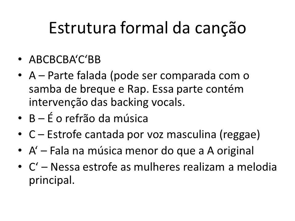 Estrutura formal da canção