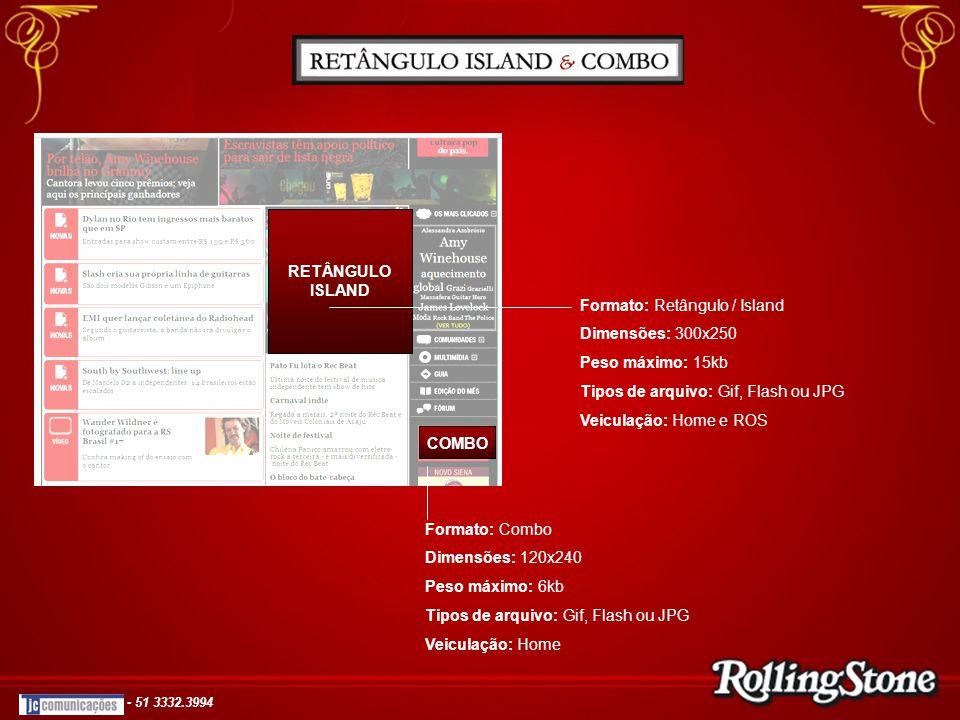 RETÂNGULO ISLAND COMBO