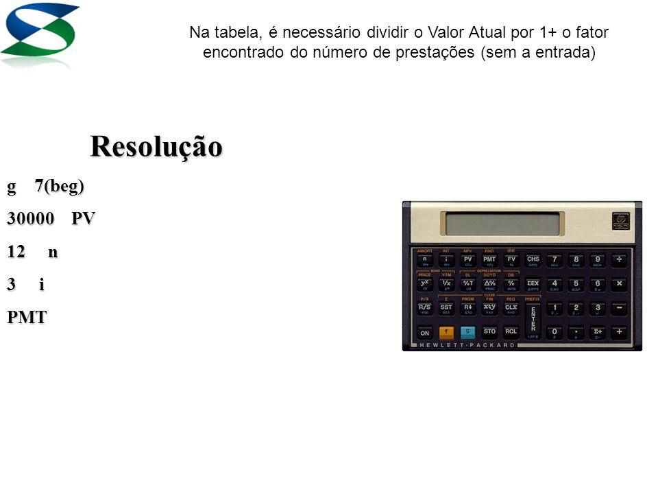 1 – Calcule a prestação mensal de um automóvel que custa R$ 30