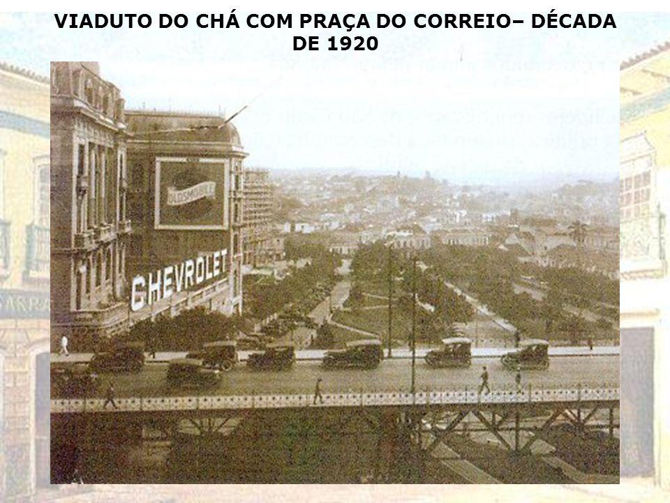 VIADUTO DO CHÁ COM PRAÇA DO CORREIO– DÉCADA DE 1920