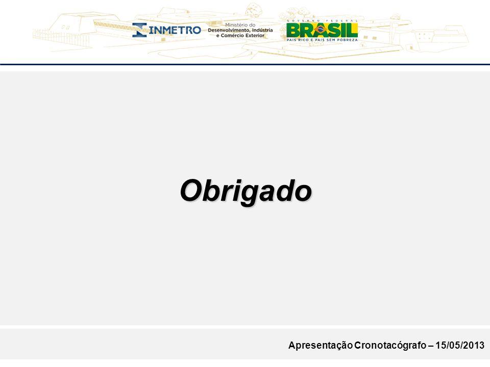 Obrigado Apresentação Cronotacógrafo – 15/05/2013