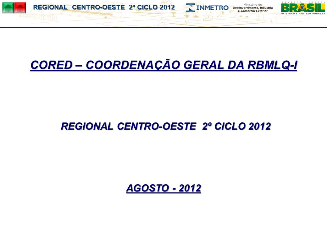 REGIONAL CENTRO-OESTE 2º CICLO 2012