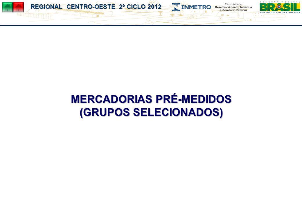 MERCADORIAS PRÉ-MEDIDOS (GRUPOS SELECIONADOS)