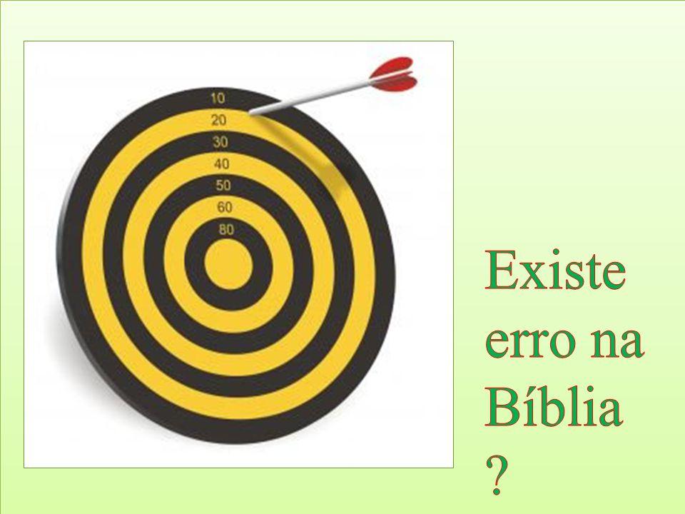 Existe erro na Bíblia