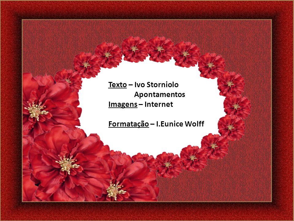 Texto – Ivo Storniolo Apontamentos Imagens – Internet Formatação – I.Eunice Wolff
