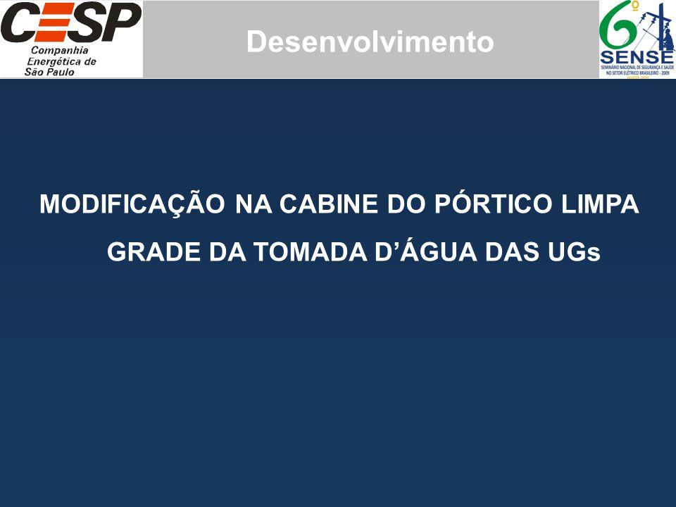 MODIFICAÇÃO NA CABINE DO PÓRTICO LIMPA GRADE DA TOMADA D'ÁGUA DAS UGs