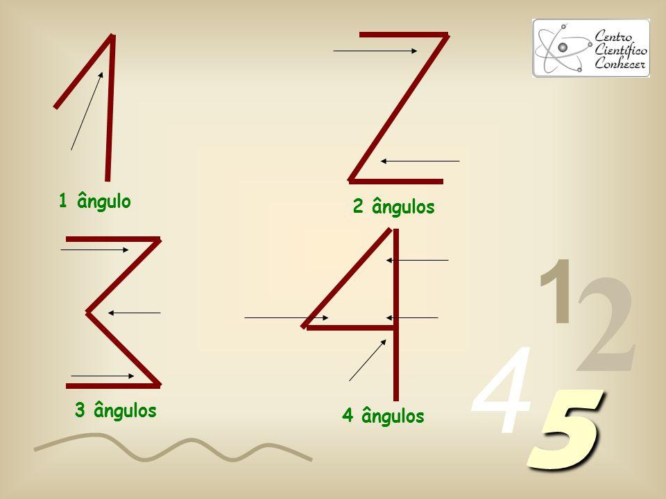 1 ângulo 2 ângulos 1 2 4 5 3 ângulos 4 ângulos