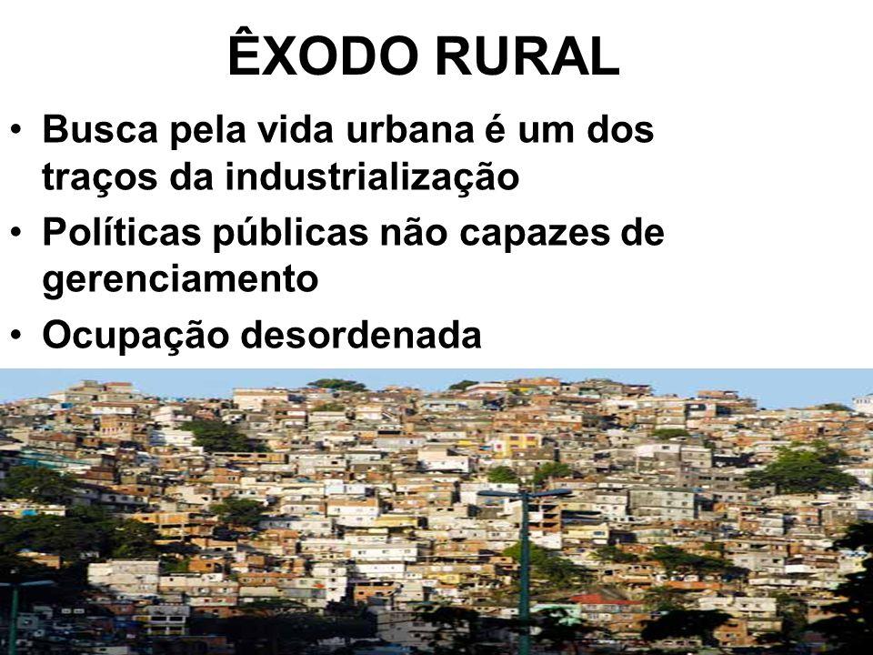 ÊXODO RURAL Busca pela vida urbana é um dos traços da industrialização