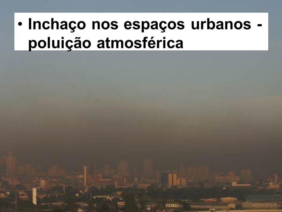 Inchaço nos espaços urbanos - poluição atmosférica