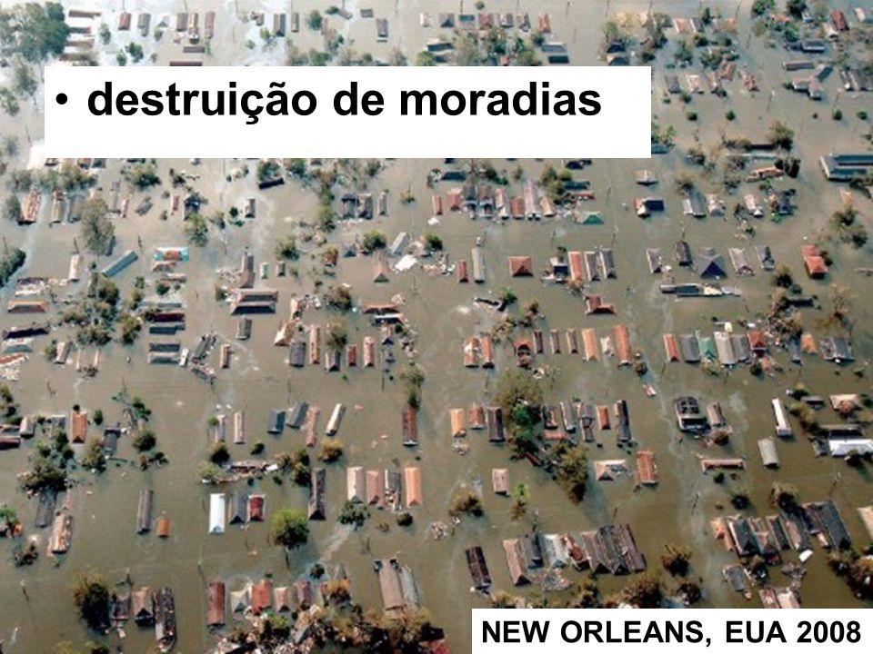 destruição de moradias