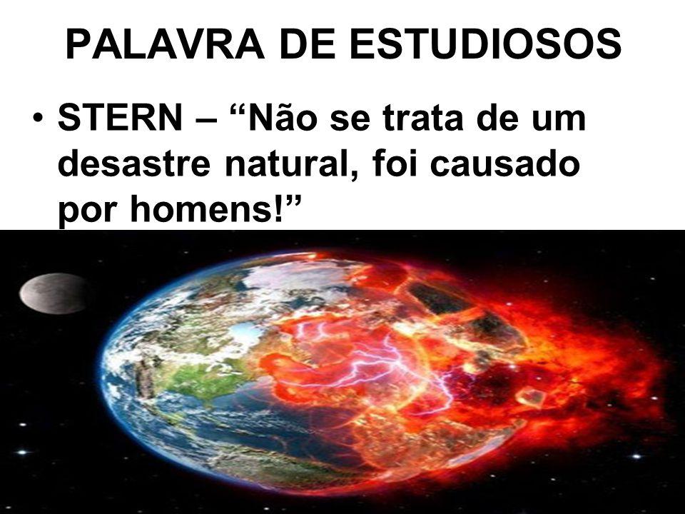 PALAVRA DE ESTUDIOSOS STERN – Não se trata de um desastre natural, foi causado por homens!