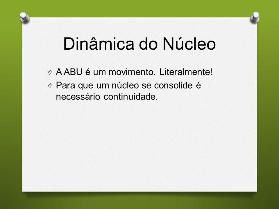 Dinâmica do Núcleo A ABU é um movimento. Literalmente!