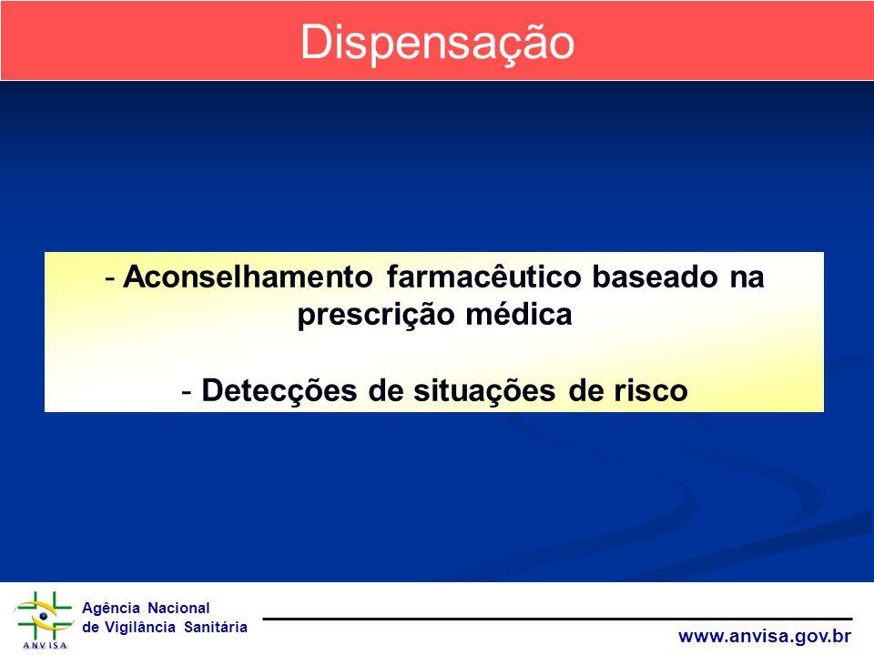 Dispensação Aconselhamento farmacêutico baseado na prescrição médica